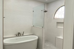 Bathroom remodeling in Margate, Florida with walk-in shower