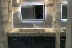 Bath renovation in Plantation with custom countertops on vanity