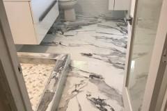 Custom tile-work completed during bathroom remodeling in Fort Lauderdale, FL