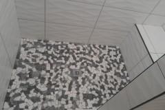Custom tile-work completed from bathroom remodeling in Deerfield Beach, FL