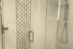 Custom tile-work completed during Bathroom renovation in Tamarac, FL