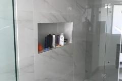 Built-in shower shelving