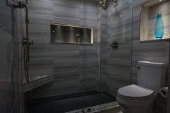Bathroom remodeling in Margate, Florida, with updated shower