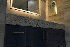 Bathroom remodel in Deerfield Beach with updated vanity