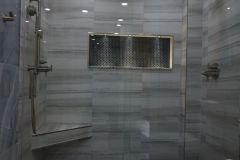 Bathroom remodeling in Margate, Florida, with updated shower features