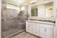 Bathroom remodeling in Fort Lauderdale, Florida with custom cabinetry
