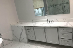 Bathroom remodeling in Coral Springs, Florida with custom cabinetry