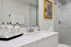 Bathroom renovation in Plantation with custom countertops on vanity