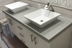 Modern his and hers double vanity sink
