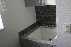 Sink installed in tight space