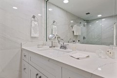 Master Bath remodeled, view of vanity and mirror