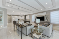 remodel celings 1: accent features in ceiling of a modern contemporary living room