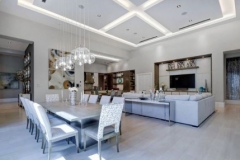 remodel celings 2: lighting features added to open concept living room and dining room