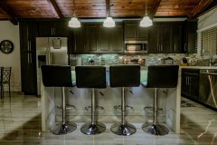 Kitchen island in Plantation, FL, after a kitchen renovation