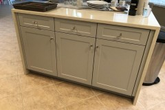 Kitchen island with cabinetry in Margate, FL
