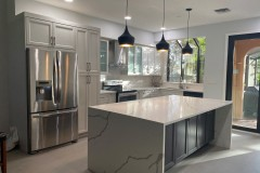Deerfield Beach home with remodeled kitchen in a contemporary, modern style