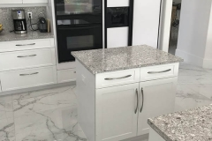 Small kitchen island addition in kitchen renovation in Fort Lauderdale