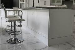 Bar stools by kitchen island in Tamarac