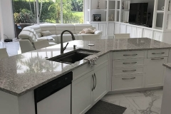 Large kitchen island with sink in Coral Springs