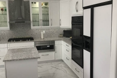 White, black, and gray kitchen remodel in Coral Springs