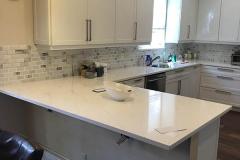 Kitchen countertop installed in Pompano Beach home