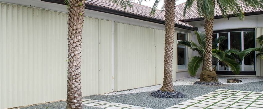 Accordion Shutters in Boynton Beach, Boca Raton, Fort Lauderdale