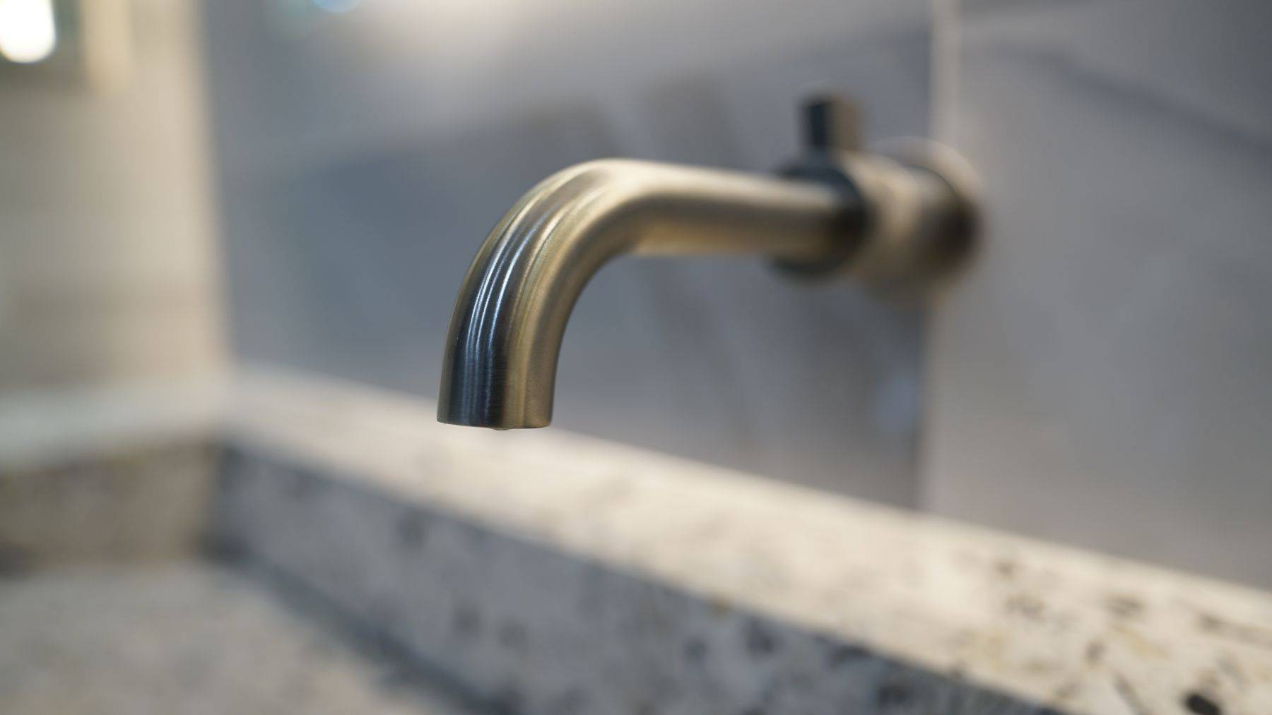 Close up of sink faucet in Fort Lauderdale condominium kitchen