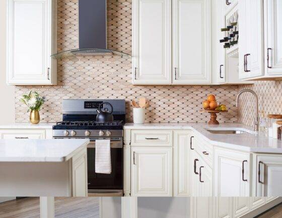 Kitchen Cabinets in Arlington Oatmeal