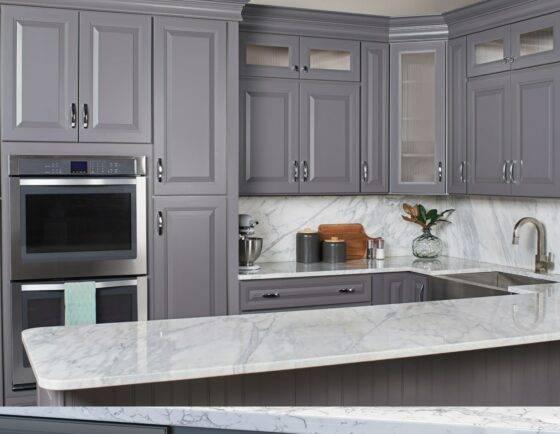 Kitchen Cabinets in Belmont Gibraltar Gray