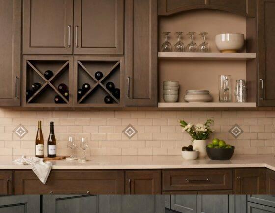 Kitchen Cabinets in Essence Cemento