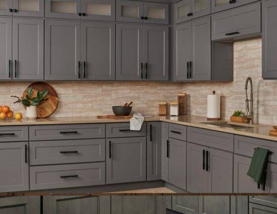 Kitchen Cabinets in Liberty Shaker Gray
