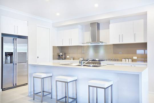 White modern kitchen remodeling in Pompano Beach, FL
